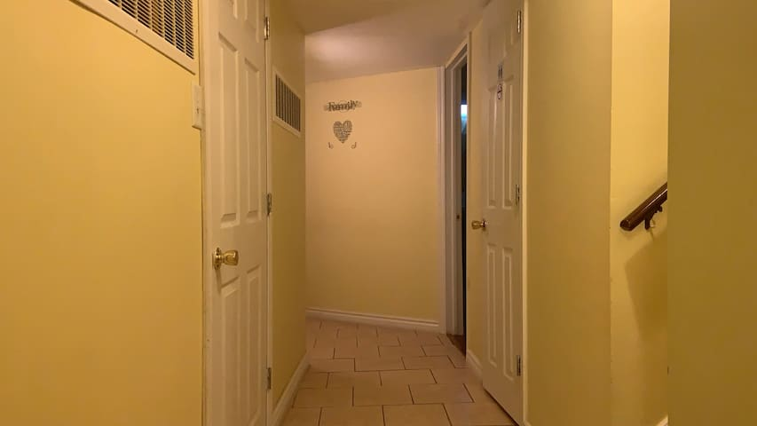 Basement apartment separate door