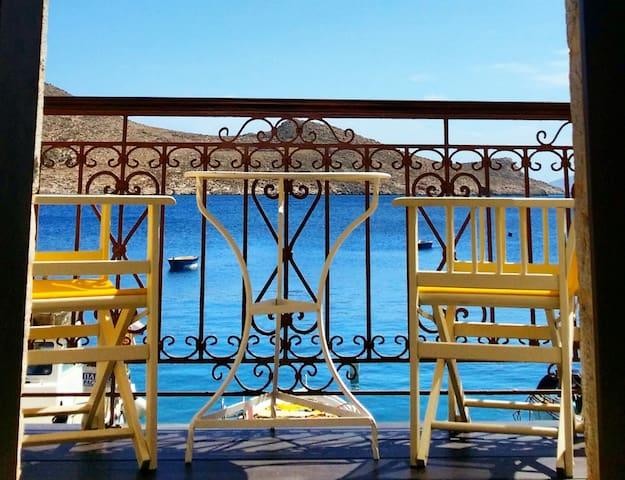 Seafront stone luxury villa - Chalki - Hus