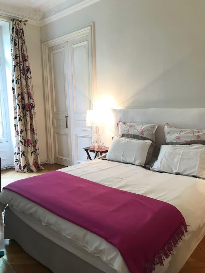Très belle et grande chambre  2 mn du Parc Monceau