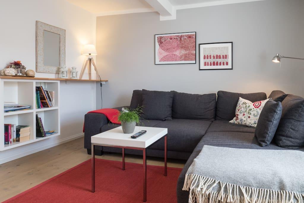 Couch: Schlafgelegenheit für 2 Personen 140 cm