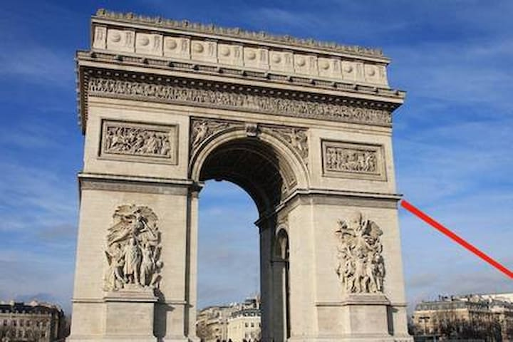 T/ 2P BEST LOCATION IN FRONT OF ARC DE TRIOMPHE