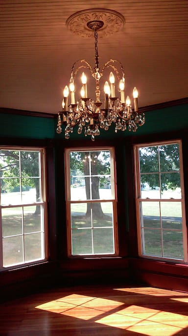 Chandelier in the original parlor (living room)