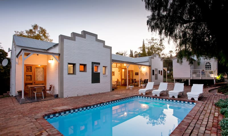 swimming pool and front of the karoo retreat