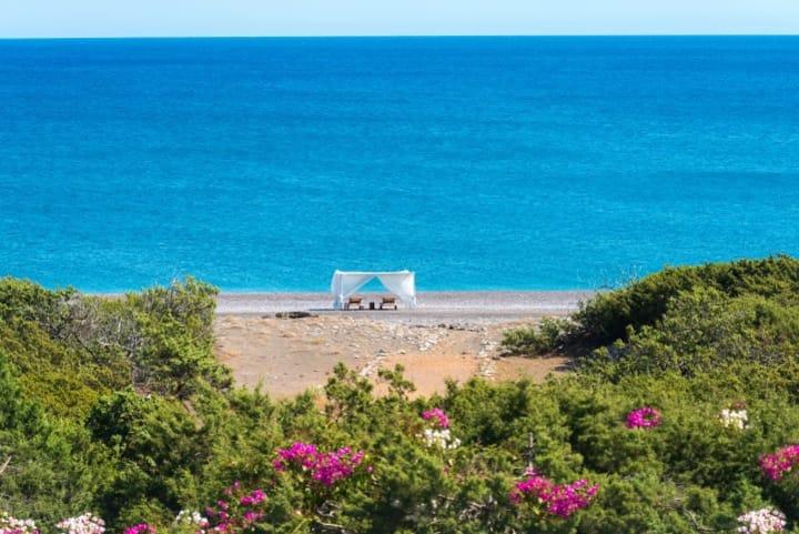 Villa privater Strandzugang in Gennadi für 10