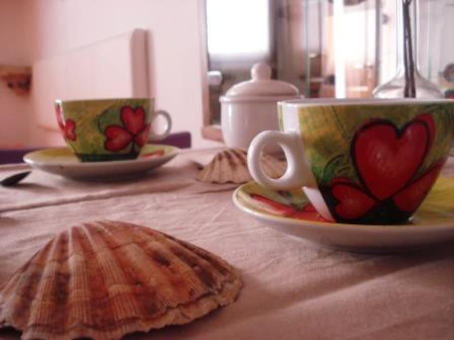 Il piacere di una romantica colazione