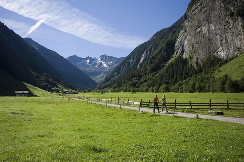 Zillertal-Ein Traum! Blick von der privaten Terrase
