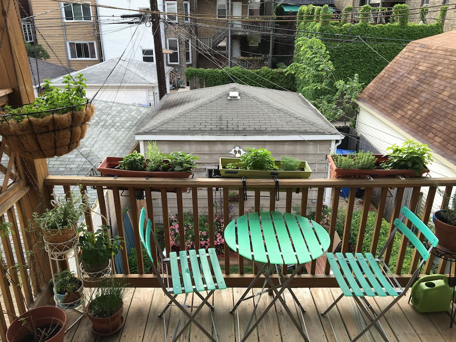 Shared second floor porch