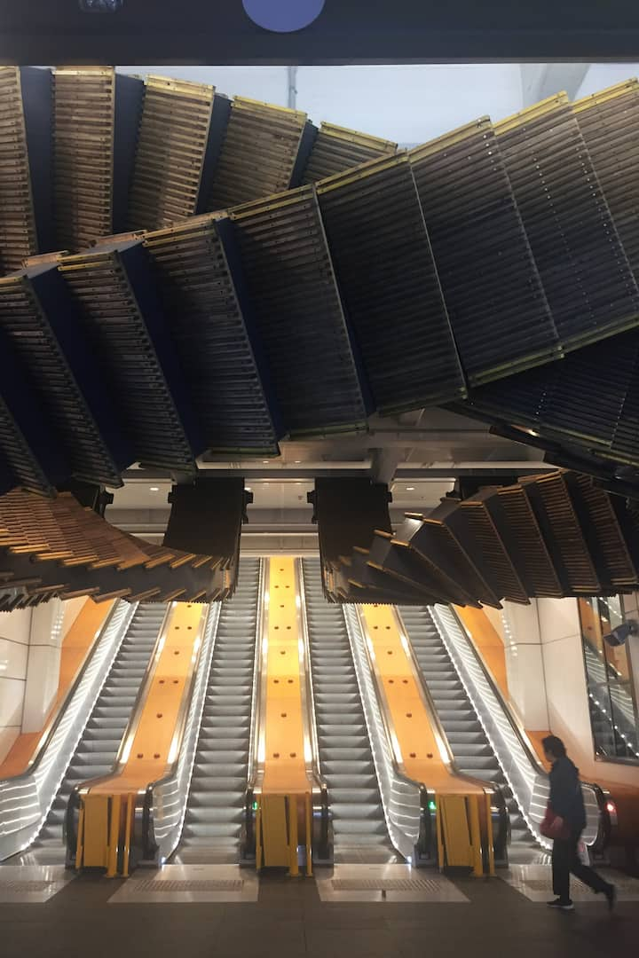 Wynyard Station's escalator banks