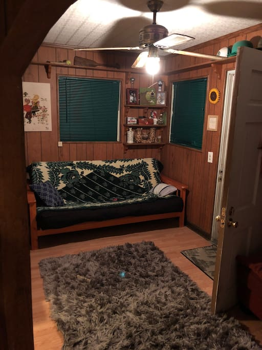 Living room, double futon/bed