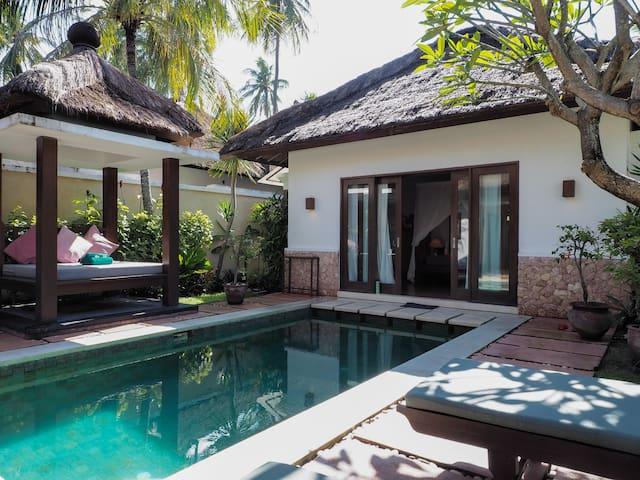 Private pool Villa near beach in Lombok, Indonesia