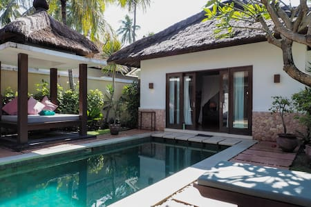 Private pool Villa near beach in Lombok, Indonesia