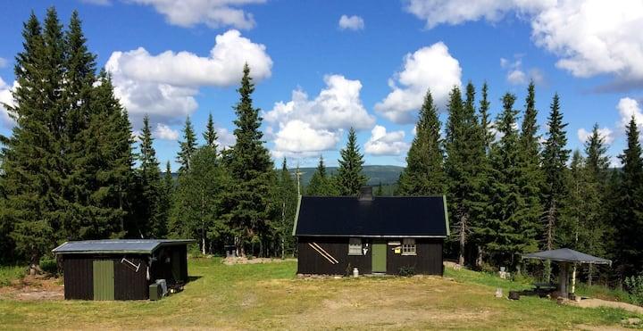 Idyllisk hytte i Lierne; Sørsetra