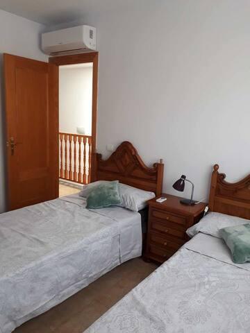 Casa duplex con habitación de 2 camas