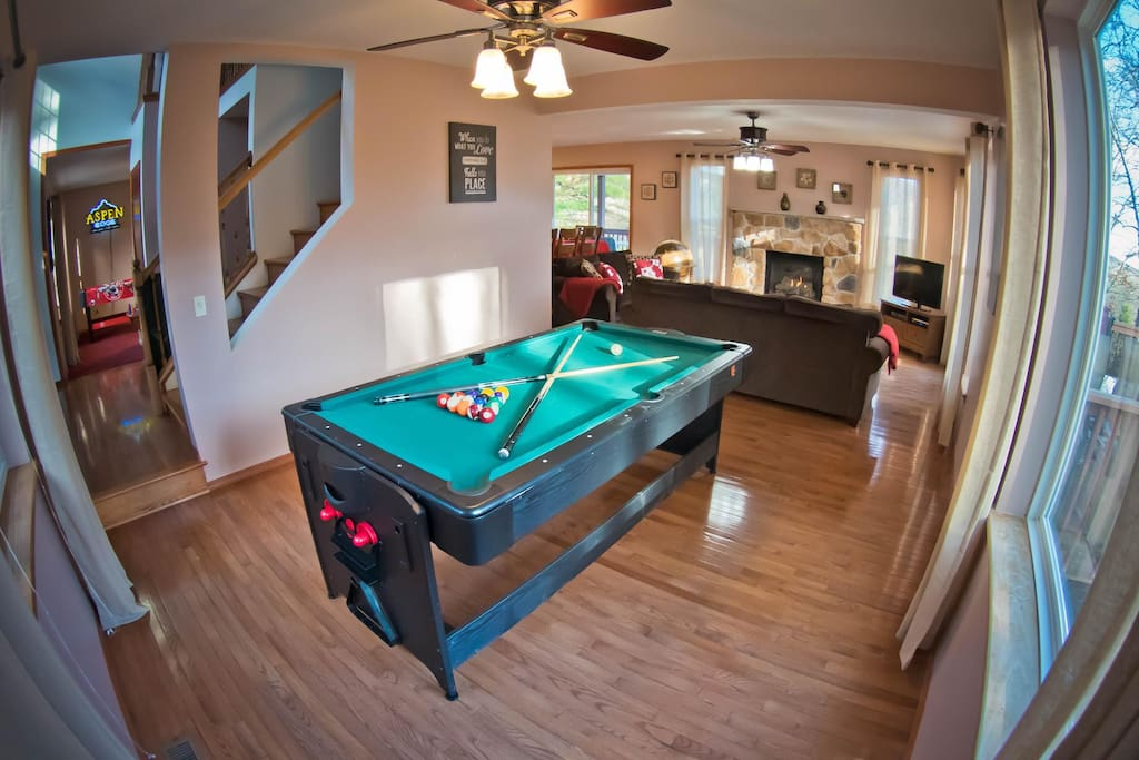 Main Level Game Room #1 with Pool Table Conversion