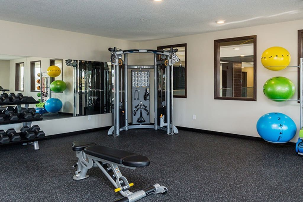 24 hour access to Gym in Main building