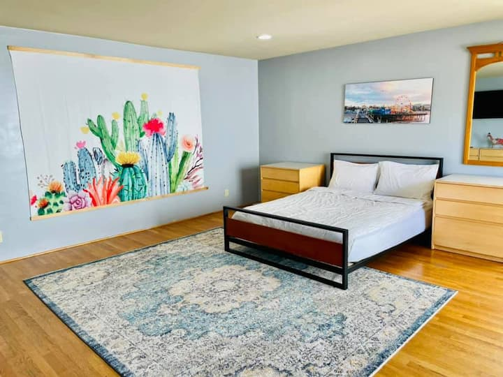 Huge Master Bedroom Near DOWN TOWN SB