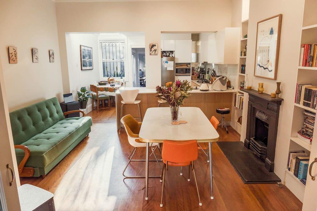 Gorgeous open plan kitchen/living area