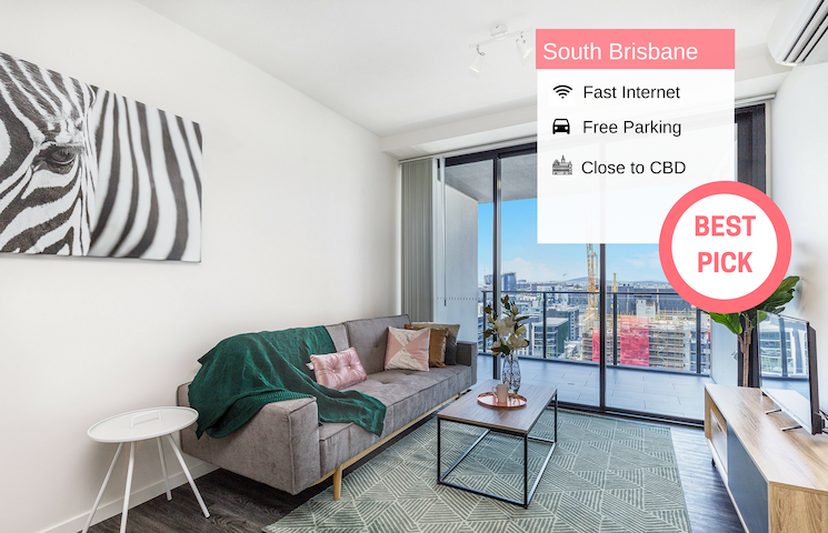 South Brisbane Funky 1 BED FREE PARKING QSB02718
