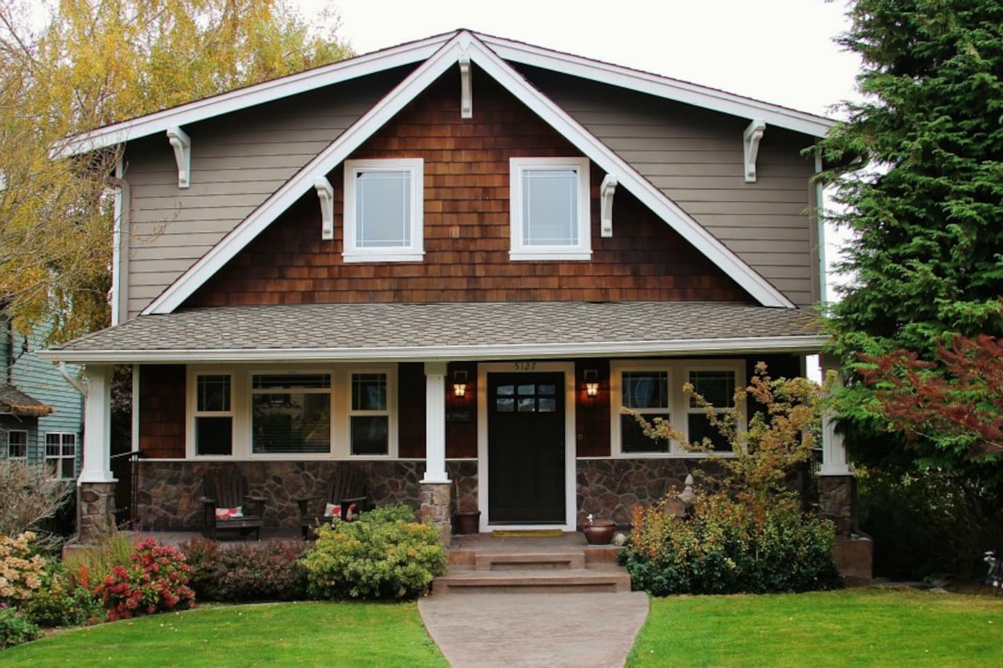 Custom Craftsman 3600 square foot home with 2 decks