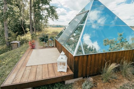 Glass energy pyramid