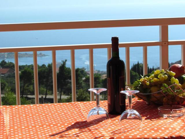 Beautiful,big apartment with charming view - Makarska - Gæstehus