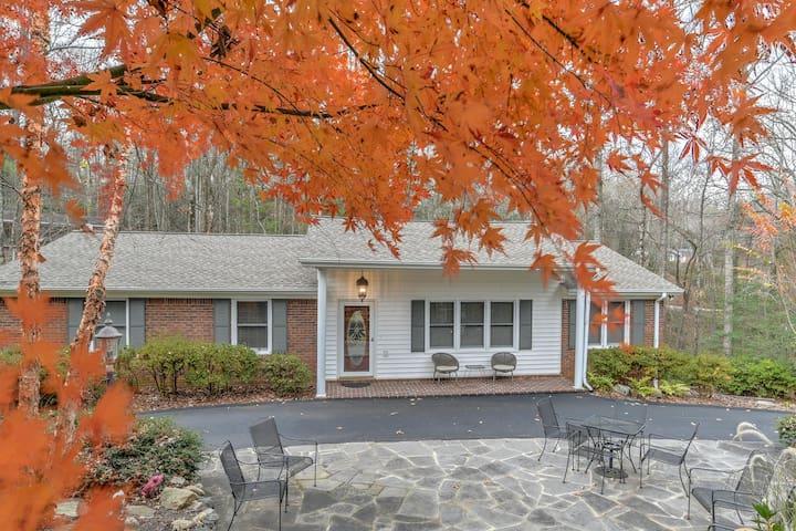 Azalea House in the fall