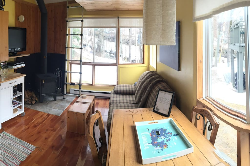 Main room - kitchenette and living/dining room