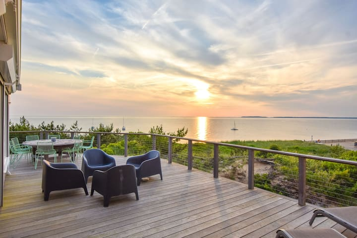 #436: Architectural Waterfront home, wrap around deck with stunning views!