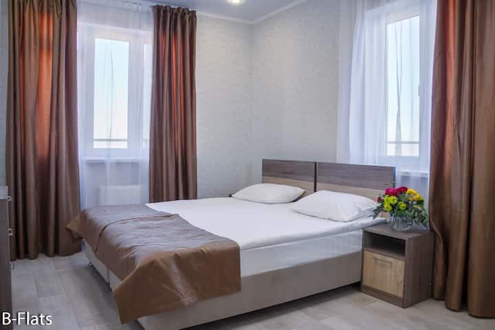 Просторные апартаменты с 2 спальнями