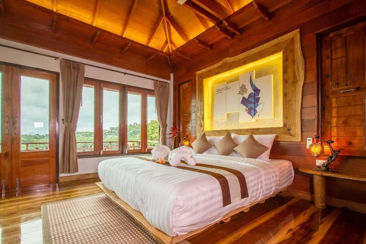 Pu Prail Wan(Villa 4bedroom deluxe sea view)