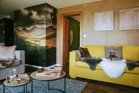 Villars/Chesières南向きの快適なアパート