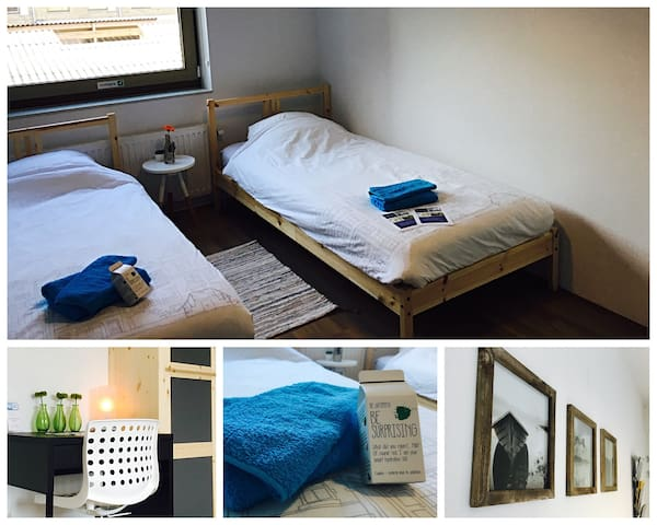 Comfortable twin room in hospitable BnB in Meppel - Meppel - Casa