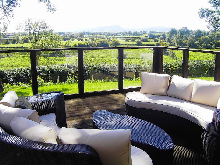 Beautiful outdoor seating area - lovely views of Lough Erne