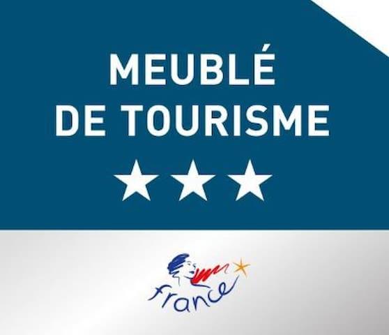 L'hébergement  a été classé 3 étoiles en janvier 2019 pour une durée de 5 ans par un organisme certificateur habilité par le ministère du tourisme.