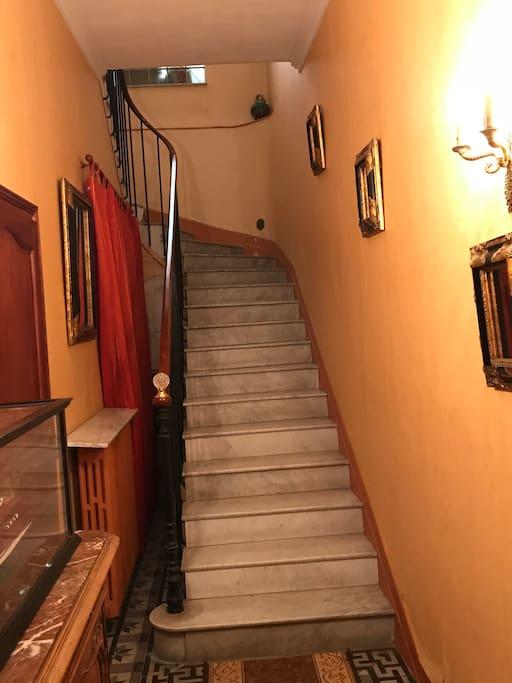 Escaliers en marbre de Carrare