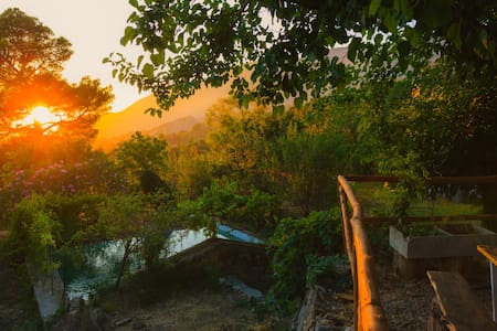 organic farm in sicily mountain , Cuca