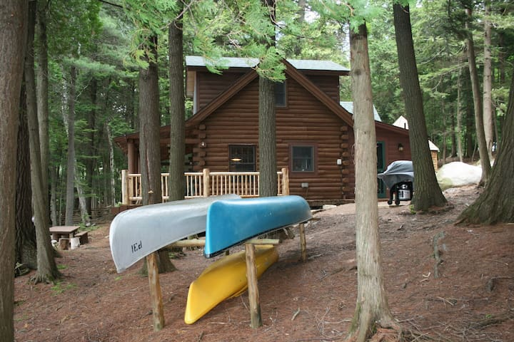 Cabin comes with 2 canoes, 3 kayaks, all paddles and life preservers.