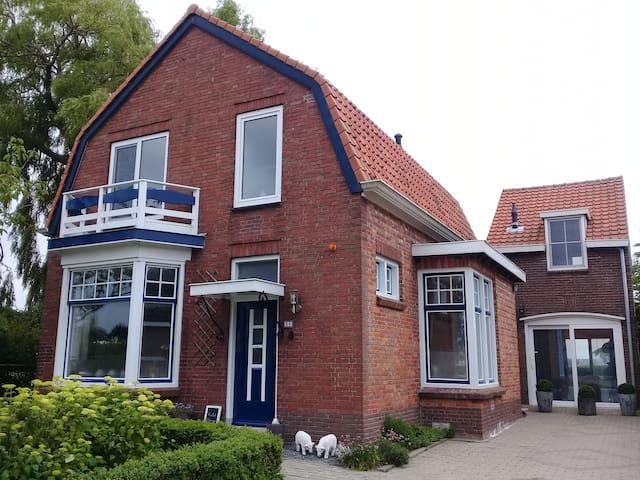 Vakantiewoning dichtbij zee en polders