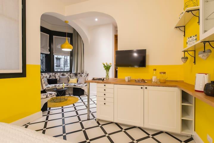 YELLOW: Suite deluxe - kitchenette corner
