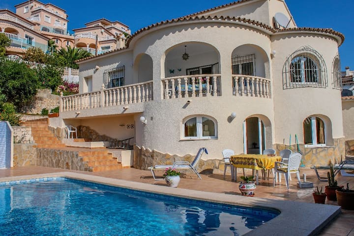 Vista al mar - sea view villa with private pool in Benitachell