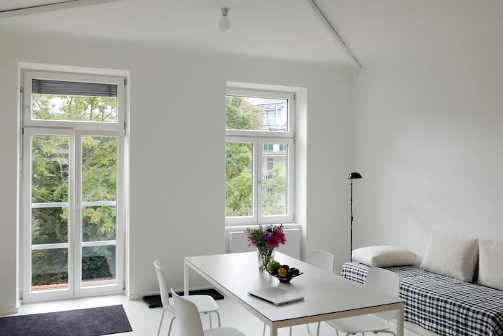 Beautiful, bright apartment next to city center