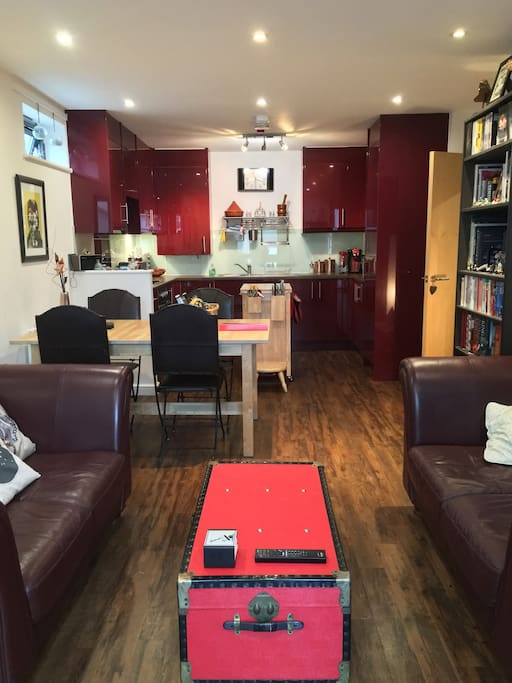 Open plan kitchen, diner, lounge with plenty of room to cook and relax.