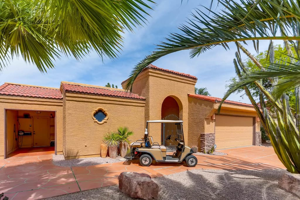 Golf Cart use and separate cart garage.