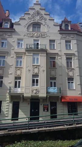 Heart of Karlovy Vary apartment with 2 Balcony