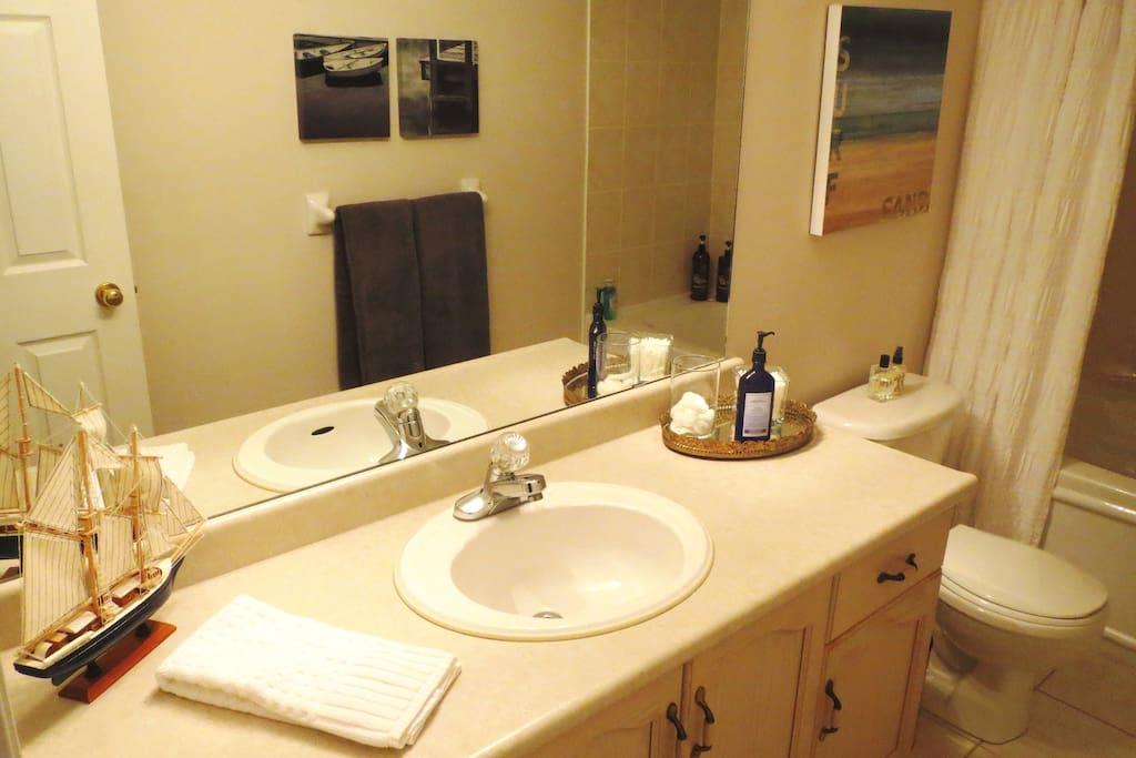 Bathroom amenities provided