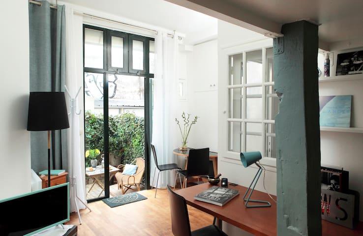 Agréable studio avec terrasse Mairie du 11ème