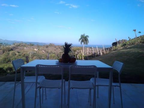 La casita con vista del Bahía de Rio San Juan
