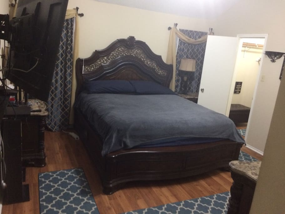 View of room and King size bed