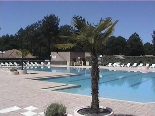 Chalet Bassin d 'Arcachon/piscine parc résidentiel