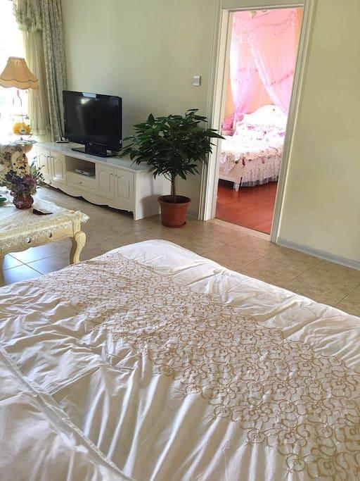 客厅1.8x2m双人床